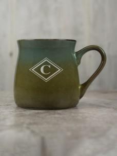 Santa Fe Ceramic Mug, Blue/Green