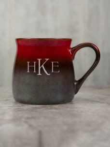 Santa Fe Ceramic Mug, Red/Beige