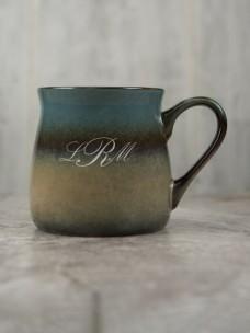 Santa Fe Ceramic Mug, Blue/Tan