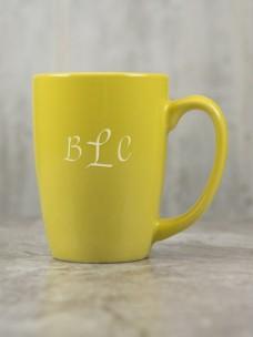 Cafe Ceramic Mug, Yellow
