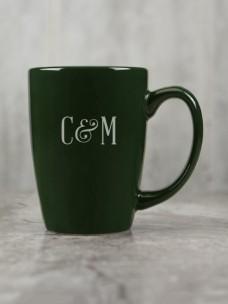 Cafe Ceramic Mug, Green